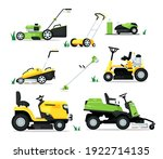 lawn mover machine with engine... | Shutterstock .eps vector #1922714135