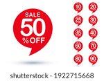 different sale percentage... | Shutterstock .eps vector #1922715668