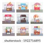 local stall market selling... | Shutterstock .eps vector #1922716895