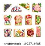 junk nourishment sandwich toast ... | Shutterstock .eps vector #1922716985