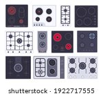 cooking gas hob  induction... | Shutterstock .eps vector #1922717555