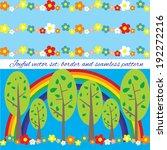 joyful vector set  border and... | Shutterstock .eps vector #192272216