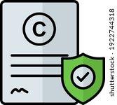 intellectual copyright concept... | Shutterstock .eps vector #1922744318