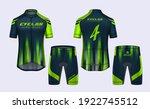 cycling jerseys mockup t shirt... | Shutterstock .eps vector #1922745512