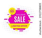 promotional sale banner... | Shutterstock .eps vector #1922758805