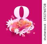 march 8 international women's... | Shutterstock .eps vector #1922760728