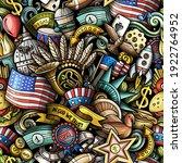 cartoon doodles usa seamless... | Shutterstock .eps vector #1922764952