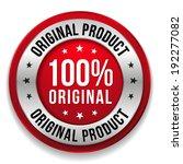 red round hundred percent... | Shutterstock .eps vector #192277082