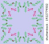 pattern colored branches . hand ... | Shutterstock . vector #1922779502