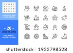 line icons about christmas... | Shutterstock .eps vector #1922798528