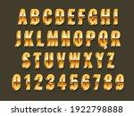 gold 3d font. realistic metal...   Shutterstock .eps vector #1922798888