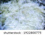 Aerial View Of River Waterfall...
