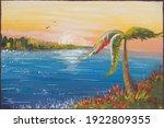 Painting  Gouache  Sea Beach...