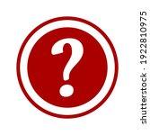 question mark round problem ... | Shutterstock .eps vector #1922810975