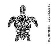 polynesian style turtle tattoo. ...   Shutterstock .eps vector #1922823962