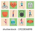 bundle of twenty healthy...   Shutterstock .eps vector #1922836898