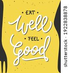 Vector Food Poster With Hand...