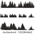 coniferous trees silhouettes... | Shutterstock .eps vector #1922844662