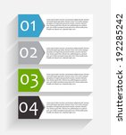 infographic templates for... | Shutterstock .eps vector #192285242