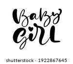 baby girl vector handwritten... | Shutterstock .eps vector #1922867645