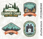 set of summer camp patches... | Shutterstock .eps vector #1922868068