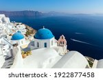 Panoramic View Of Oia Town...