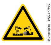 corrosive material symbol ...   Shutterstock .eps vector #1922877992