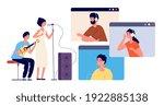 live stream. music streaming ... | Shutterstock .eps vector #1922885138