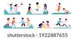outdoor kids games. isolated... | Shutterstock .eps vector #1922887655