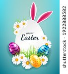 easter card with eggs  flowers... | Shutterstock .eps vector #1922888582