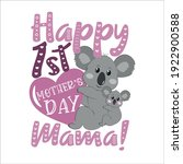 happy first mother's day mommy  ... | Shutterstock .eps vector #1922900588