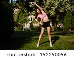 beautiful and  athletic  young... | Shutterstock . vector #192290096