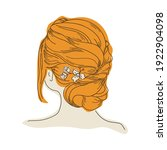 girl with a haircut and a... | Shutterstock .eps vector #1922904098