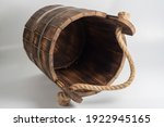 Wooden Burned Birch Bucket With ...