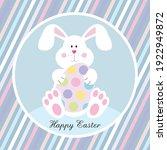 easter bunny and egg for easter ...   Shutterstock .eps vector #1922949872