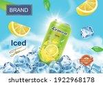 lemon drink advertising poster... | Shutterstock .eps vector #1922968178