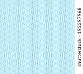 isometric graph paper. seamless ... | Shutterstock .eps vector #192297968