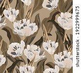 tulip seamless vector pattern.... | Shutterstock .eps vector #1922999675