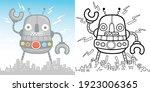 Vector Cartoon Of Big Robot...
