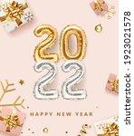 2022 golden decoration holiday... | Shutterstock .eps vector #1923021578