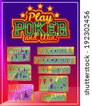 poker signs set | Shutterstock .eps vector #192302456