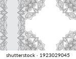 mandala ornament pattern.... | Shutterstock .eps vector #1923029045