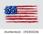 american flag in grunge style.... | Shutterstock .eps vector #192303236