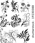 floral design elements | Shutterstock .eps vector #19230388