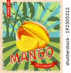 natural fresh organic sweet... | Shutterstock .eps vector #192305312