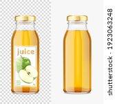 green apple juice mockup... | Shutterstock .eps vector #1923063248