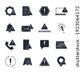 set of warning sign icon.... | Shutterstock .eps vector #1923064172