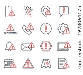 set of warning sign icon.... | Shutterstock .eps vector #1923064175