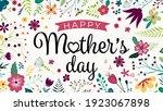 happy mothers day. elegant... | Shutterstock .eps vector #1923067898