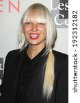 """Small photo of LOS ANGELES - MAY 10: Sia at the L.A. Gay & Lesbian Center's """"An Evening With Women"""" at Beverly Hilton Hotel on May 10, 2014 in Beverly Hills, CA"""